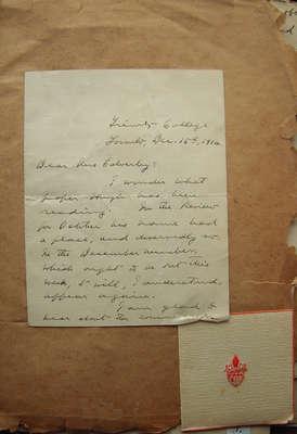 Letter - I wonder...
