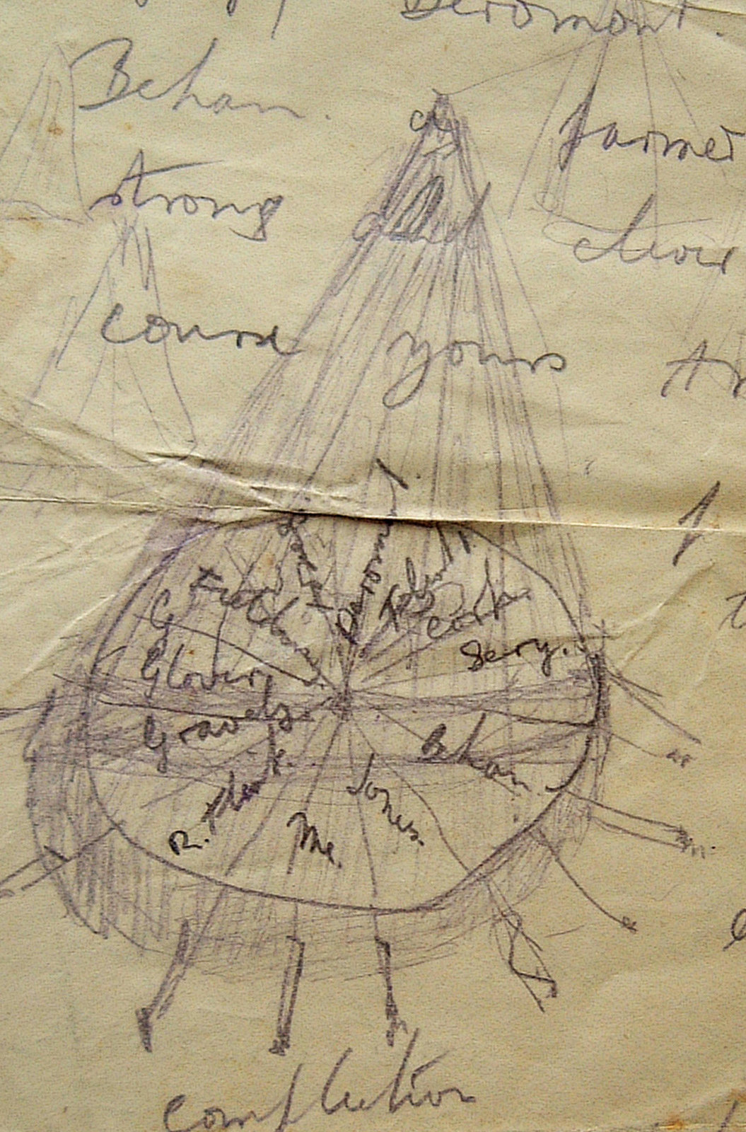 Drawing of a Round Tent