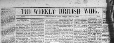 Weekly British Whig