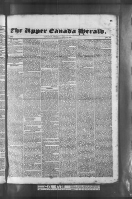 Upper Canada Herald (Kingston1819), 21 Apr 1835