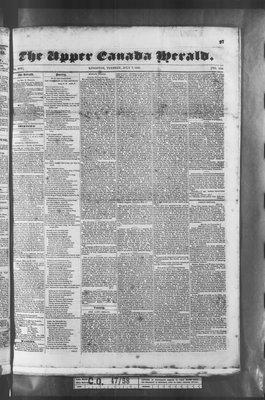 Upper Canada Herald (Kingston1819), 7 Jul 1835