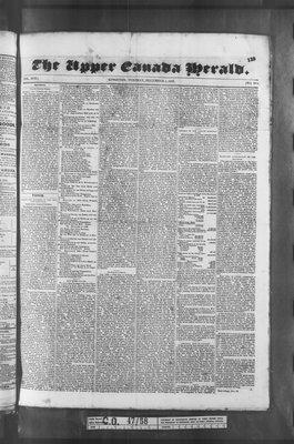 Upper Canada Herald (Kingston1819), 1 Dec 1835