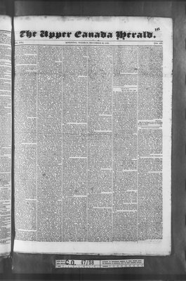 Upper Canada Herald (Kingston1819), 22 Dec 1835