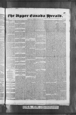 Upper Canada Herald (Kingston1819), 22 Mar 1836
