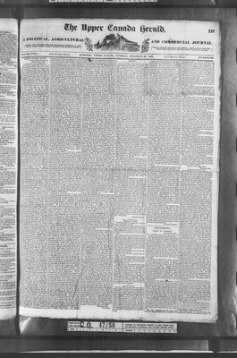 Upper Canada Herald (Kingston1819), 27 Dec 1836
