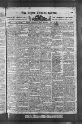 Upper Canada Herald (Kingston1819), 5 Sep 1837