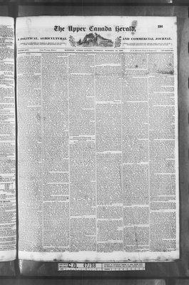 Upper Canada Herald (Kingston1819), 10 Oct 1837