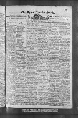 Upper Canada Herald (Kingston1819), 9 Jan 1838