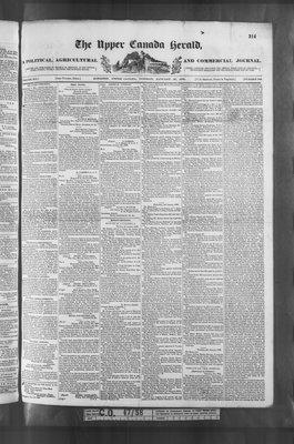 Upper Canada Herald (Kingston1819), 16 Jan 1838