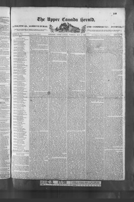 Upper Canada Herald (Kingston1819), 1 May 1838