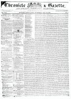 Chronicle & Gazette, 22 July 1835