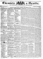 Chronicle & Gazette, 19 September 1835