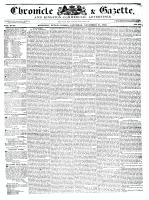 Chronicle & Gazette, 21 November 1835