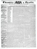 Chronicle & Gazette, 5 December 1835