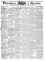 Chronicle & Gazette (Kingston, ON), January 13, 1836