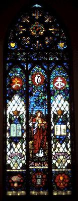 Good Shepherd stained glass window: Knox Presbyterian Church, Oakville.