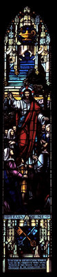 Learn of me stained glass window: Knox Presbyterian Church, Oakville.