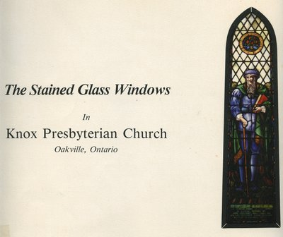 The Stained Glass Windows in Knox Presbyterian Church, Oakville, Ontario.