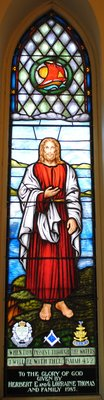 Mystery Painting stained glass window: Knox Presbyterian Church, Oakville.