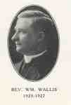 Reverend William Wallis:  Minister of Knox Presbyterian Church, Oakville, 1925-1927.