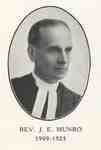 Reverend James Edward Munro: Minister of Knox Presbyterian Church, Oakville, 1909-1925.