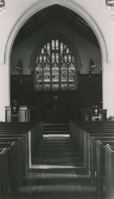 Knox Presbyterian Church, Oakville: interior circa 1940