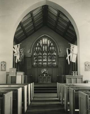 Knox Presbyterian Church, Oakville: chancel, 1969.
