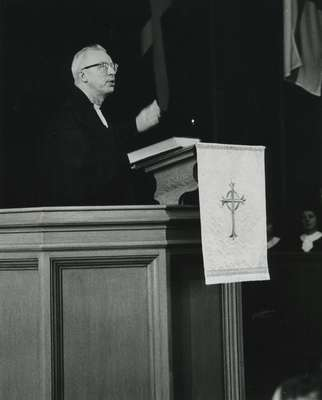 Reverend Robert MacMillan, 1975: Knox Presbyterian Church, Oakville.