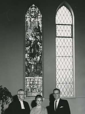Dedication of memorial window for Dr. C.K. Nicoll, Minister at Knox from 1933-1961.