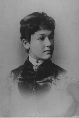 "Sarah ""Birdie"" Marlatt (as a young woman), 1863-1939."