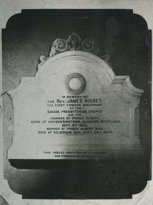 Reverend James Nisbet memorial.