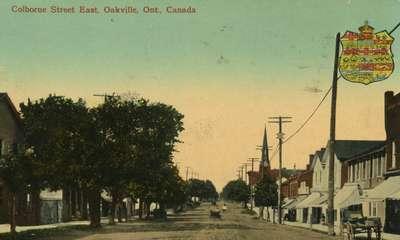 Colborne Street East, Oakville, Ont.: postcard, 1914?
