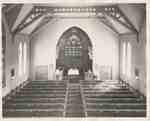 Knox Presbyterian Church, Oakville: interior, 1950.