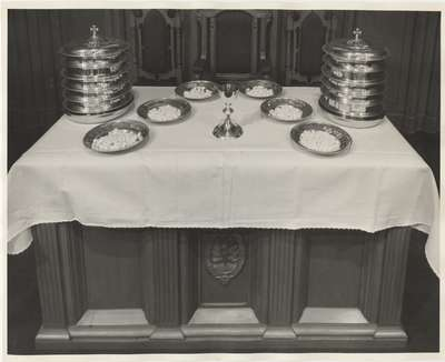 Communion table: Knox Presbyterian Church, Oakville.