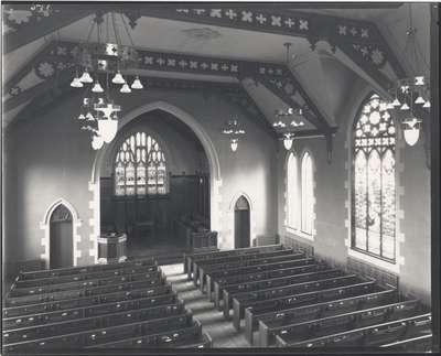 Knox Presbyterian Church, Oakville: interior, 1920.