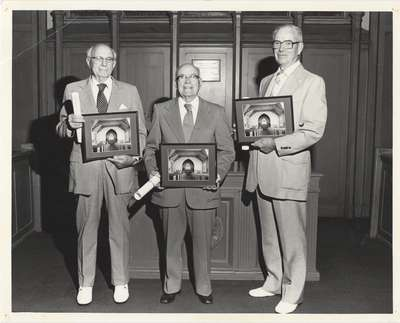 Elders honoured in 1983 for longest record of service: Knox Presbyterian Church, Oakville.
