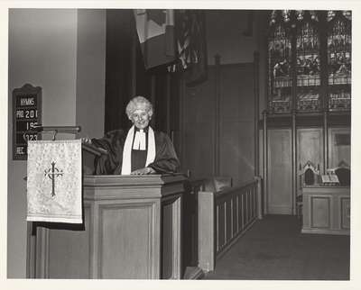 Rev. Helen Goggin, Knox Presbyterian Church, Oakville.