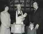 Baptism: Ian and Marilyn Grant, Fraser and Heather, Dr. R.G. MacMillan.