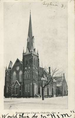 Presbyterian Church, Oakville, Ont., 1907?