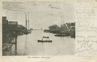 The harbor, Oakville, 1906?