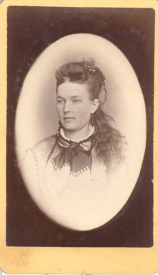 Lady With Elaborate Neck Scarf