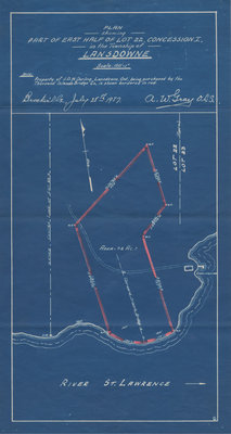 Blueprint: Lot 22, Concession I, Lansdowne, Ontario