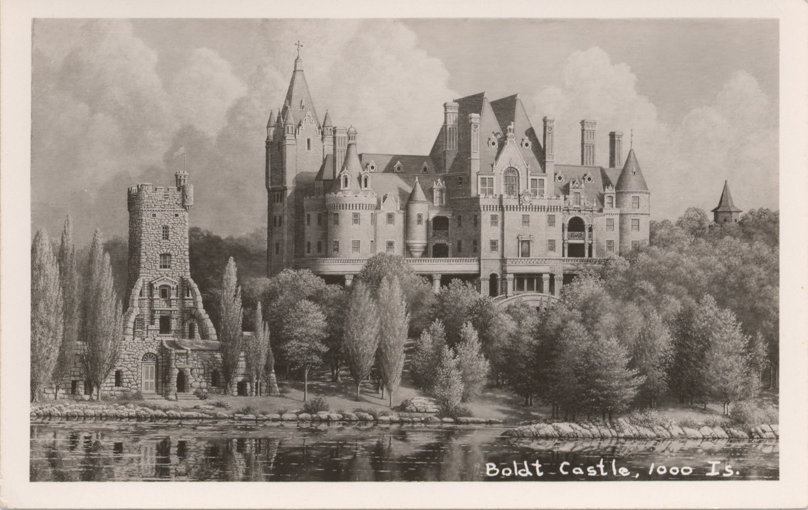 Artist's Rendering of Boldt Castle