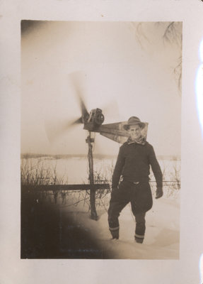 Richard Senecal and Homemade Windmill