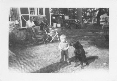 Boy and Dog on Grenadier Island