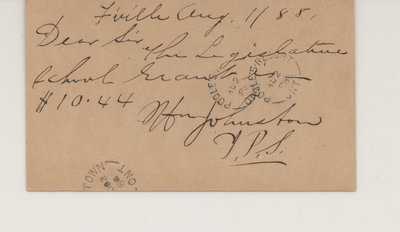 Postcard to Robert Poole, Verso