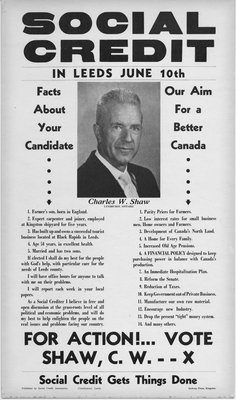 Charles Shaw Election Poster