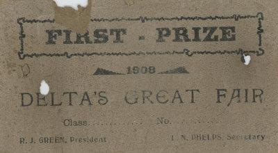 Delta Fair Prize Certificate