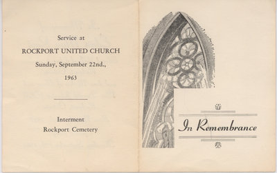 Funeral Program, Edna May Root