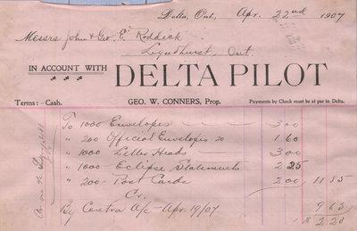 Delta Pilot Billhead